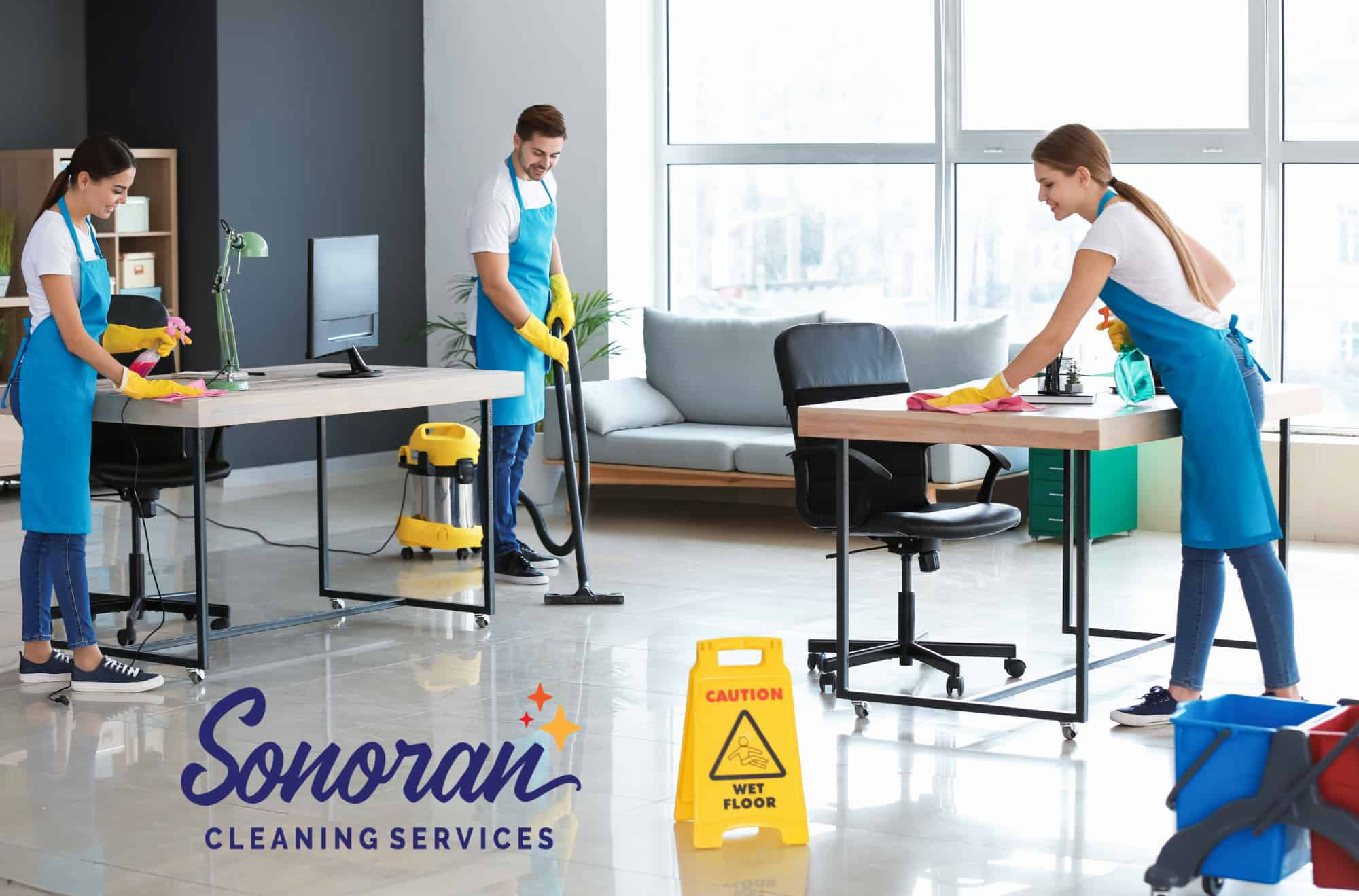 cleaning with logo