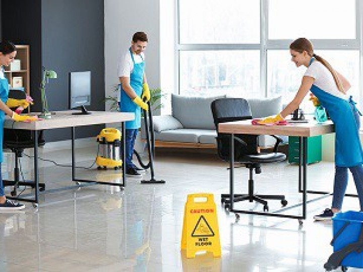 cleaning crew office