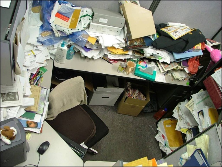 dirty office
